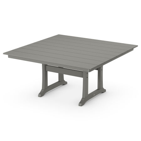 "59"" Square Dining Table in Slate Grey"