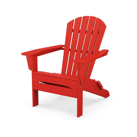 South Beach Folding Adirondack Chair in Sunset Red