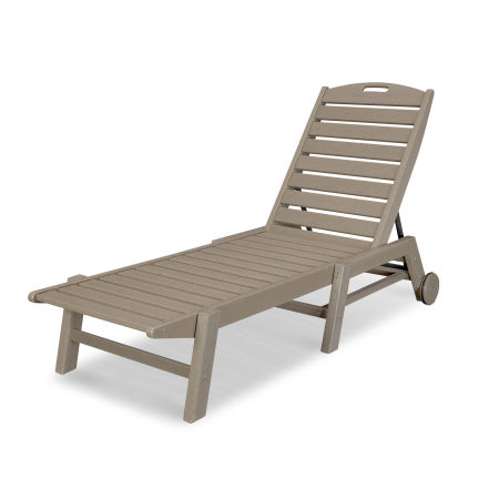 Nautical Chaise with Wheels in Vintage Sahara