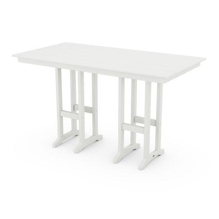 """Farmhouse 37"""" x 72"""" Bar Table in White"""