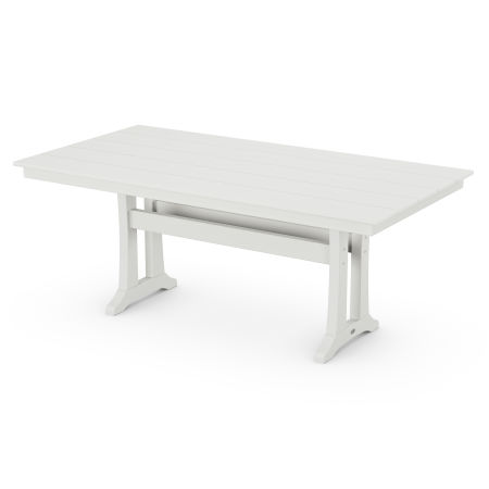 """Farmhouse 37"""" x 72"""" Dining Table in Vintage White"""