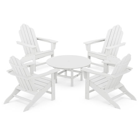 Long Island Adirondack 5-Piece Conversation Group in White