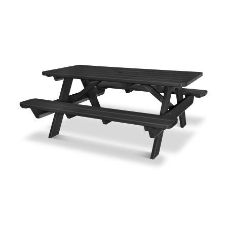 """Park 72"""" Picnic Table in Black"""