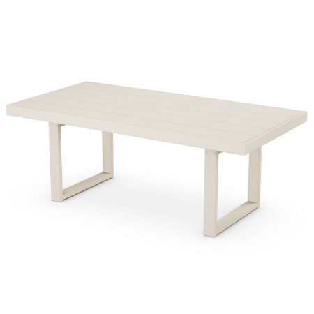 "EDGE 39"" x 78"" Dining Table in Sand"