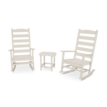 Shaker 3-Piece Porch Rocking Chair Set in Sand