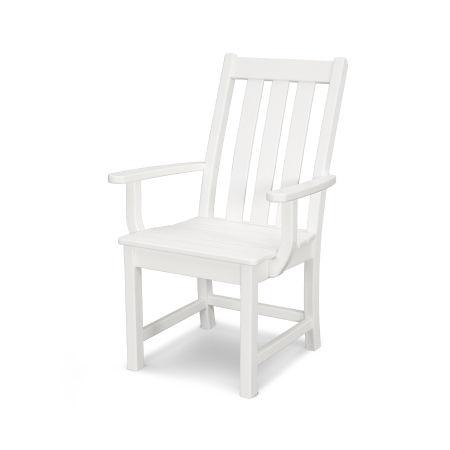 Vineyard Dining Arm Chair in Vintage White