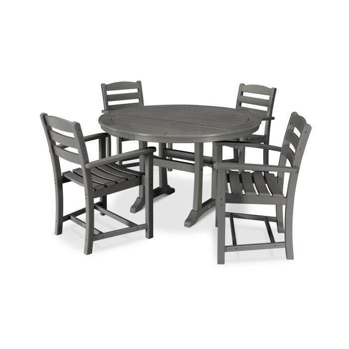 La Casa Café 5 Piece Arm Chair Dining Set