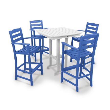 La Casa Café 5-Piece Bar Set in Pacific Blue