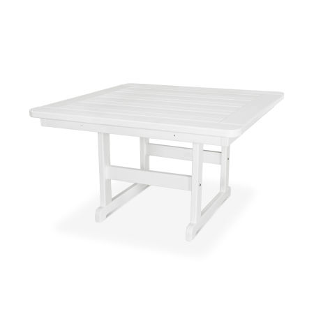 """Park 48"""" Square Table in White"""