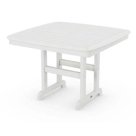 """Nautical 44"""" Dining Table in White"""