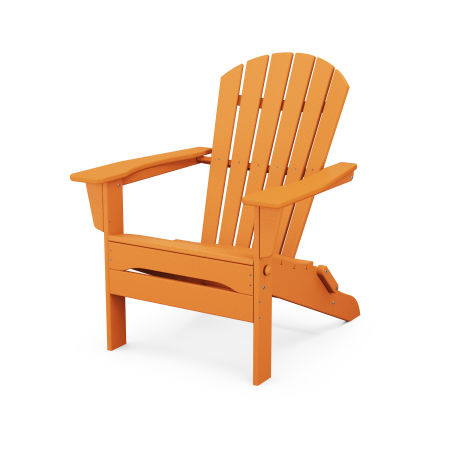 South Beach Folding Adirondack Chair in Tangerine