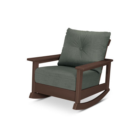 Prescott Deep Seating Rocking Chair in Mahogany / Cast Sage