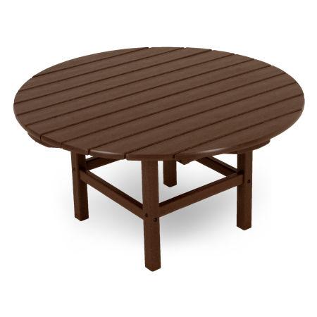 "Round 38"" Conversation Table in Mahogany"