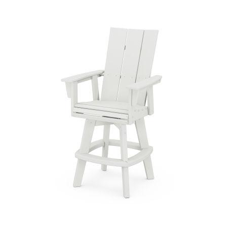 Modern Adirondack Swivel Bar Chair in Vintage White