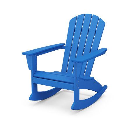 Nautical Adirondack Rocking Chair in Pacific Blue