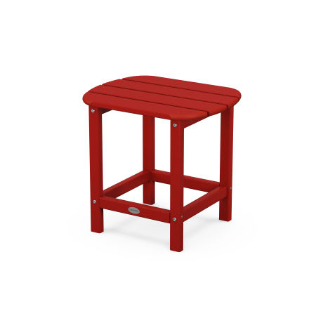"South Beach 18"" Side Table in Crimson Red"