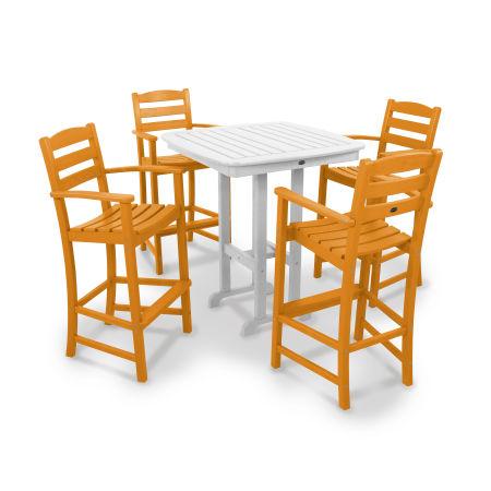 La Casa Café 5-Piece Bar Set in Tangerine