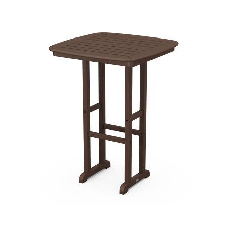 "Nautical 31"" Bar Table in Mahogany"