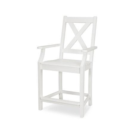 Braxton Counter Arm Chair in Vintage White