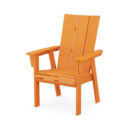 Modern Adirondack Dining Chair in Tangerine