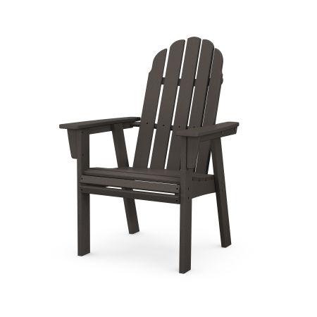 Vineyard Curveback Adirondack Dining Chair in Vintage Finish