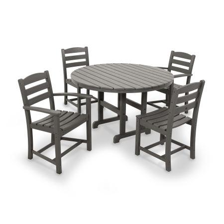 La Casa Café 5-Piece Dining Set in Slate Grey