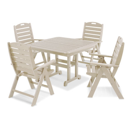 Nautical 5-Piece Dining Set in Sand