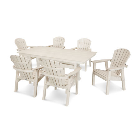 7 Piece Seashell Dining Set in Sand