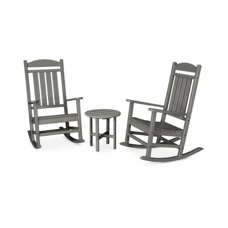 Presidential 3-Piece Rocker Set in Slate Grey