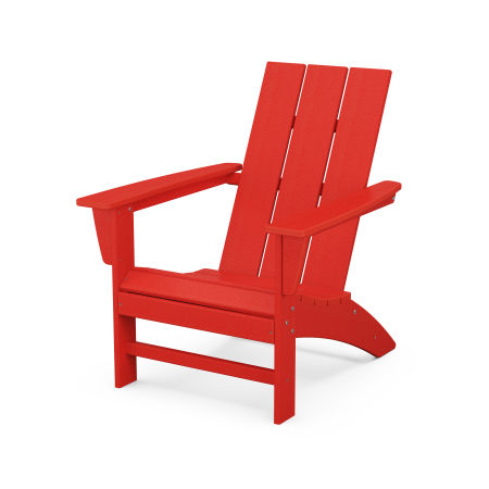 Modern Adirondack Chair in Sunset Red