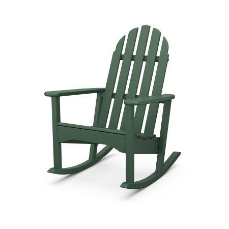 Classic Adirondack Rocking Chair in Green