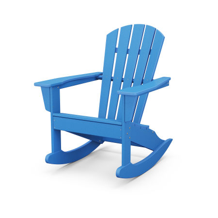 Palm Coast Adirondack Rocking Chair in Pacific Blue