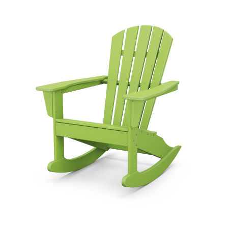 Palm Coast Adirondack Rocking Chair in Lime