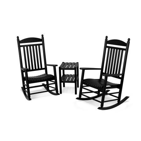 Jefferson 3-Piece Rocking Chair Set in Black
