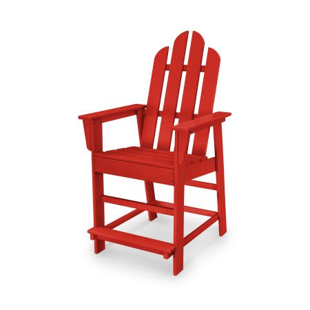 Long Island Counter Chair in Sunset Red