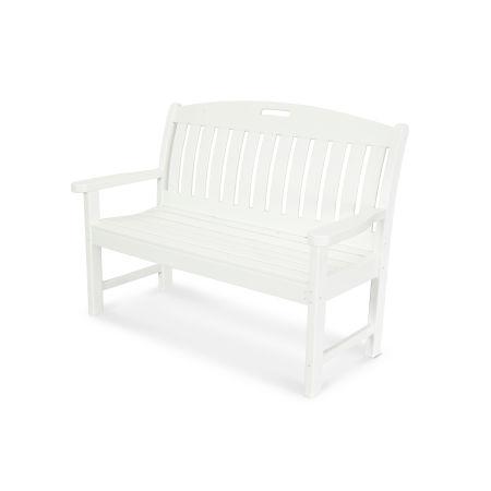 "Nautical 48"" Bench in Vintage White"