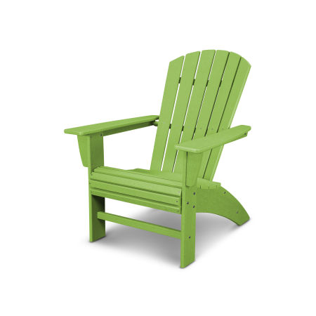 Nautical Curveback Adirondack Chair in Vintage Lime