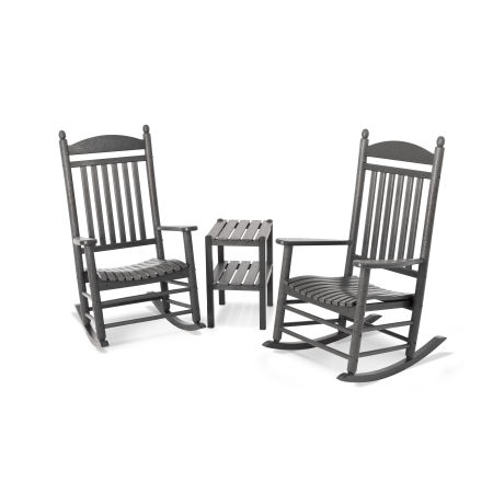 Jefferson 3-Piece Rocking Chair Set in Slate Grey