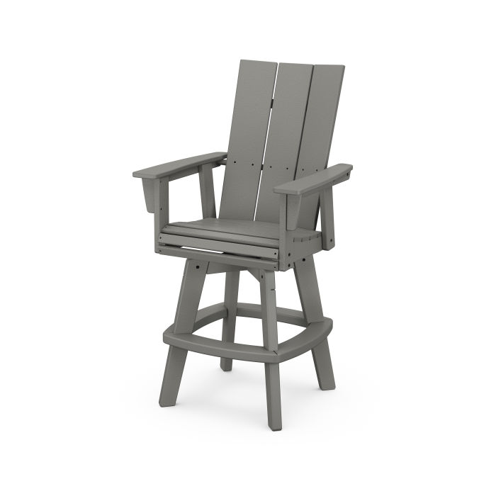 Modern Curveback Adirondack Swivel Bar Chair