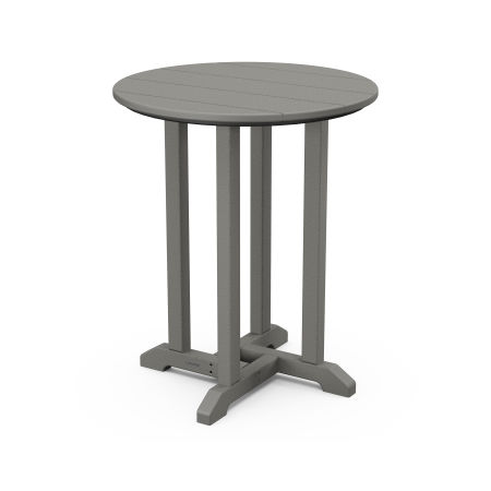 """24"""" Round Dining Table in Slate Grey"""