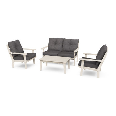 Lakeside 4-Piece Deep Seating Set in Sand / Ash Charcoal