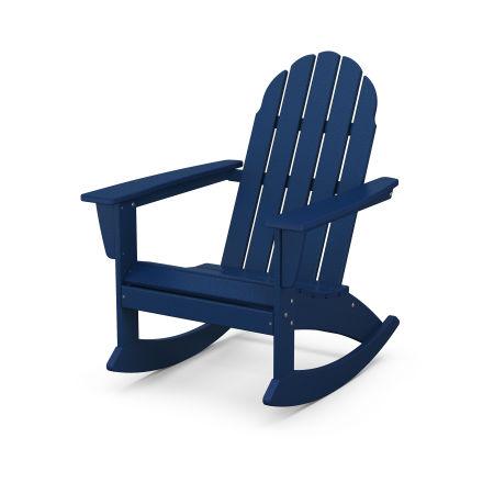 Vineyard Adirondack Rocking Chair in Navy