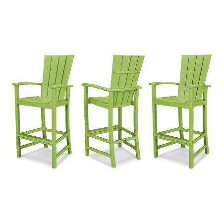 Quattro 3-Piece Bar Set in Lime
