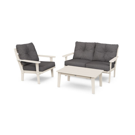 Lakeside 3-Piece Deep Seating Set in Sand / Ash Charcoal