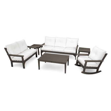 Vineyard 6-Piece Deep Seating Set in Vintage Finish