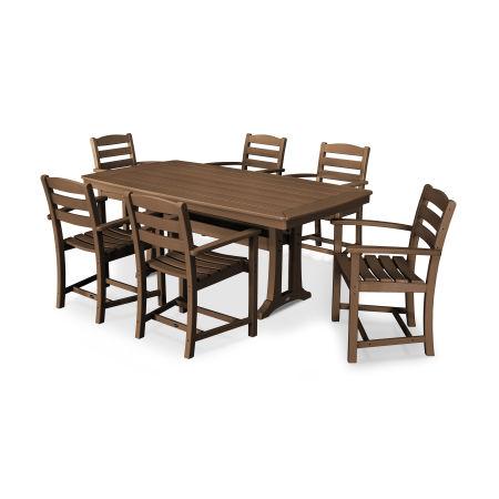 La Casa Café 7 Piece Arm Chair Dining Set in Teak