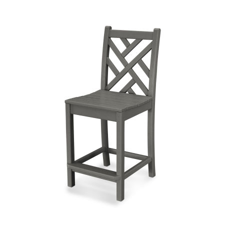 Chippendale Counter Side Chair in Slate Grey