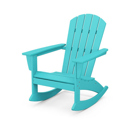 Nautical Adirondack Rocking Chair in Aruba