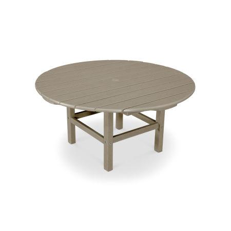 "Round 38"" Conversation Table in Vintage Sahara"