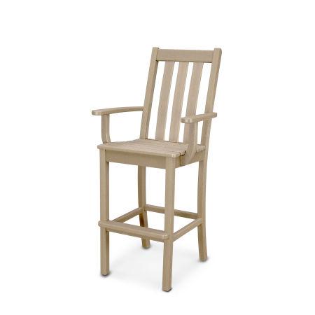 Vineyard Bar Arm Chair in Vintage Sahara